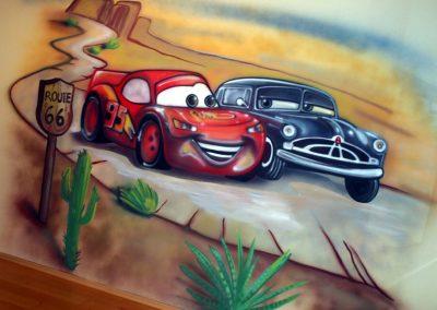 Cars malba na stěnu