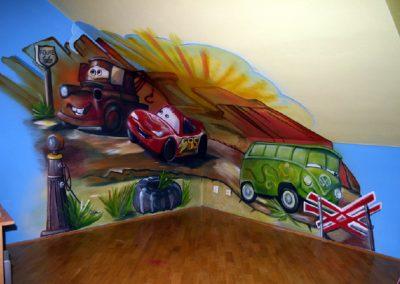 Auta malba dětského pokoje