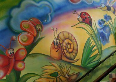 malba na stěnu šněk a louka