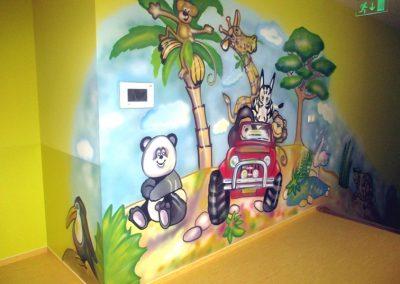 Dekorační malba stěn školka Litttle kitten