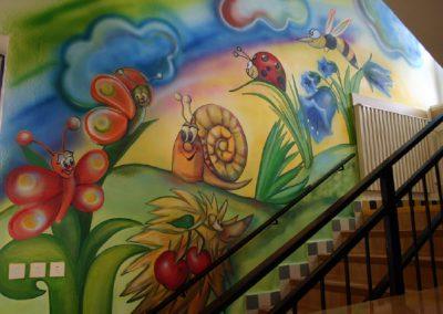 Dekorační malba schodiště MŠ