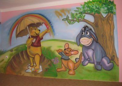 Anglická školka malba na stěnu