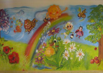 Malba na stěnu školka