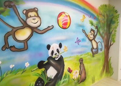 Panda dekorace OC šestka p dětský koutek