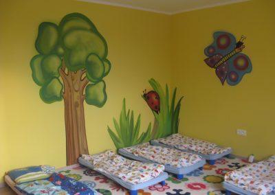 Dekorace strom a motýl školka