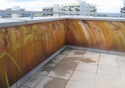 Výtvarné řešení terasy
