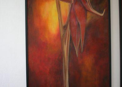 Olej na plátně Květ On a Ona