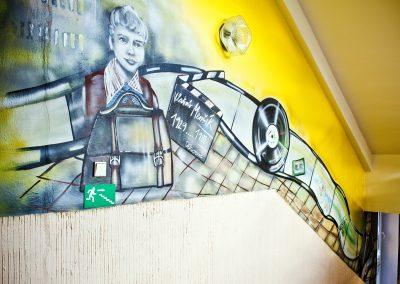 Vladimír Menšík malba na stěnu