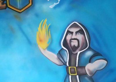 Wizard malba na stěnu