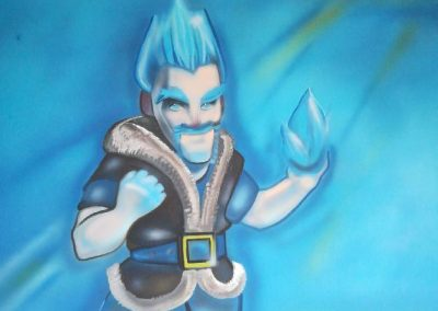 Ice wizard malba na stěnu